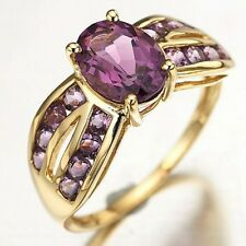 Size 6,7,8,9 Jewelry Bridal Amethyst Gold Filled Elegant Women Engagement Rings
