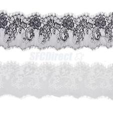 3 Yds Eyelash Guipure Floral Lace Trim DIY Sewing Dress Lingerie Trimmings 15cm