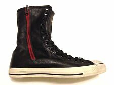 Converse x John Varvatos CT High XHI Black White Leather Fold Over Sneaker Boot