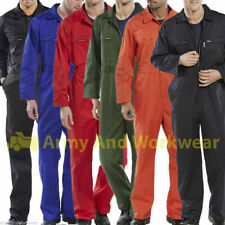 Heavy duty super cliquez Boilersuit combinaison de salopette workwear zip avant / poches