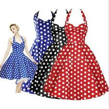 New Women Polka Dot Tutu Ball Gown Cocktail Party Evening Prom Dress S-XL JHRG