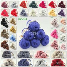 Sale Lot of 6BallsX50g Smooth Special Thick Worsted Cotton Knitting Yarn  D