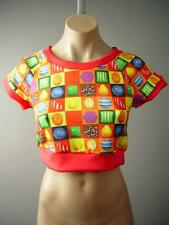 Candy Crush Candies Video Game Colorful Bright Novelty Crop Top 141 mv Shirt S M