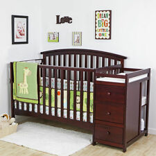 NEW 5 in 1 Side Convertible Crib Changer Nursery Furniture Baby Toddler Bed PICK