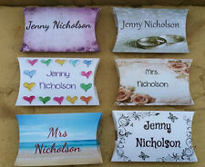 Personalised Pillow Boxes-Your Photo, Your Names.. Favours & Table Cards in one!