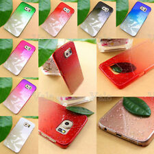 For Samsung Galaxy S6 Ultra Thin Crystal Clear Natural Water Raindrop Hard Case