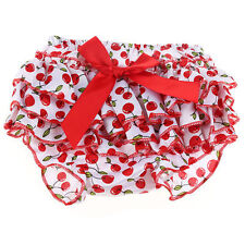 Newborn Baby Girls 0-2Y Satin Ruffle Bow Nappy Diaper Cover Bloomers Panties New