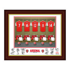 Personalised Arsenal FC Football Club Team Shirts Dressing Room Print