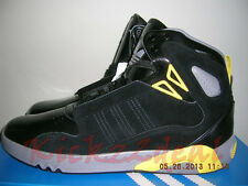 NEW MENS ADIDAS ROUNDHOUSE MID 2.0 Basketball Shoes sz 10 Black/Yellow G59865 2
