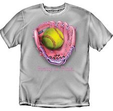 Pretty in Pink Softball Glove - T-Shirt - Youth Sizes