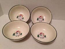 Pfaltzgraff Snow Village Set Of 4 Cereal Bowls- Fast Shipping!
