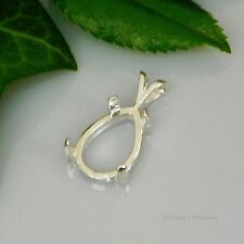 (6x4 - 18x13) PEAR Cabochon (CAB) Sterling Silver Pendant Setting