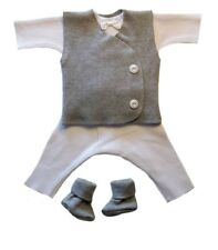 Gallant Baby Boy 4 Piece Suit with Gray Vest - 4 Preemie and Newborn Sizes!