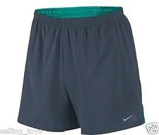 """695441-475 New w tag Nike Men's 7"""" inch Distance Printed Running Shorts BLUE"""