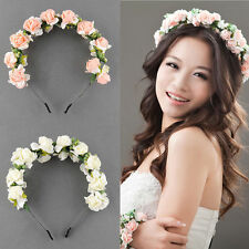 Flower Crown Headband Wedding Double Row Garland Hairband Prom Hair Accessories