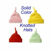 Solid Color Knotted Unisex Baby Hats - Preemie and Newborn Infant Sizes!
