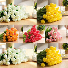 6Pcs Tulip Artificial Flower Latex Real Touch Bridal Wedding Bouquet Home Decor