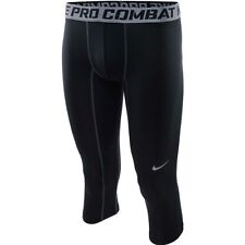 NWT NIKE 586918 MEN PRO COMBAT 3/4 LENGTH TRAINING COMPRESSION TIGHTS CAPRI BL