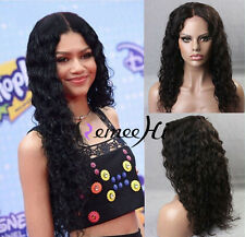 "12""-24""100% Indian Remy Human Hair Lace Front/Full Wig Natural Curly very pretty"