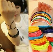 25Pc Silicone Gummy Bands Bracelets Rubber Gummies Jelly Bracelets 12COLOUR B013
