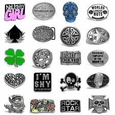 BBUM0359 MANY STYLES SKULL / LETTER / DRAGON / KNOTS ALLOY METAL BELT BUCKLE