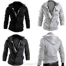 New Hot Mens Casual Zip Up Slim Hoodie Coat Jacket Sweatshirt Outwear Overcoat