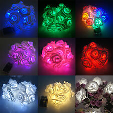 20LED/2M Flower Flash String In/Outdor Fairy Wedding Party Christmas Decor Light