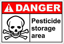 Pesticide Storage Area Danger OSHA / ANSI Aluminum METAL Sign