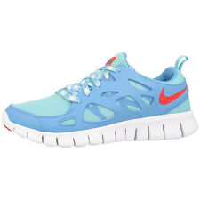 NIKE FREE RUN 2 GS RUNNING SHOES TRAINERS 477701-301 TEAL CRIMSON 4.0 5.0