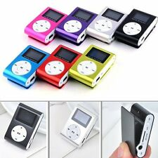 USB Mini Clip MP3 Player LCD Screen Support 32GB Micro SD TF Card FM Radio