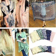 Modern Elegant Fashion Design Women Girls Floral Long Scarf Warp Shawl Stole New
