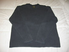 Eddie Bauer Mens XL 100% Cotton Crewneck Sweater Excellent - Blue Green Brown