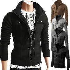 Men Stylish Slim Fit Stand Collar Casual Coat Jacket Trench Overcoat Outwear Top