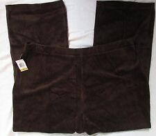 NWT Charter Club classic rich truffle brown velour pull on lounge pants 3X