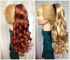 DORIAN NATURAL COLLECTION  Long Clip on Ponytail Haipiece BLONDE BROWN RED BLACK