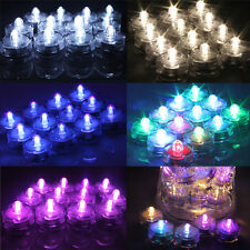 12/24 pcs LED Submersible Waterproof Wedding Xmas Decor Vase Tea Light Floral