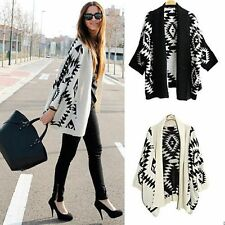 Fashion Women Casual Oversized Knit Sleeve Sweater Knitwear Coat Cardigan Jacket