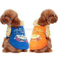 Small Pet Dog Puppy Pullover Coat Sweater Hoodie Sport Clothes Apparel S-XXL J78