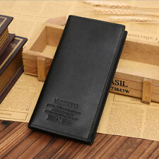 Stylish Mens Long Casual Leather Wallet Pockets Card Clutch Cente Bifold Purse