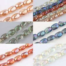 5/10Pcs Stone Round Shape Crystal Glass Finding Charms Loose Spacer Beads 10x5mm