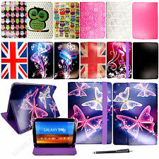 """New Universal Folio Leather Case Cover For Android Tablet PC 10.1""""inch+ Stylus"""