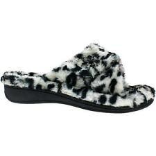 Vionic Relax Luxe Orthotic Support Slipper Slide Grey Leopard Medium (M, B)