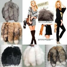 Girl Artificial Fox Tail Key Chain Fur Tassel Bag Tag Charm Handbag Key Ring 15""