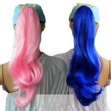 Womens Lady Long Curly Hair ponytail Wig Cosplay Party Costume Multi Colors Girl