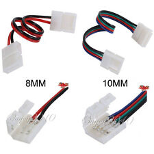 2/10x 8mm 10mm Led Strip light Connector Adapter Cable Clip 5050 3528 RGB Single