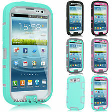 Rugged Rubber Protective Hard Matte Case Cover For SAMSUNG GALAXY S III S3 i9300