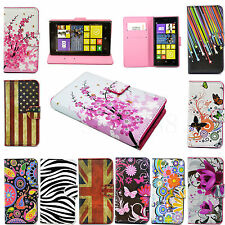Fashion Leather Wallet Flip Pouch Cover Case For Nokia Lumia 520 630 720 925 Hot