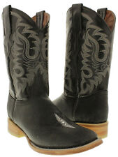 mens black stingray single stone leather exotic western cowboy boots