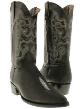 mens black stingray single stone exotic leather western cowboy boots team west
