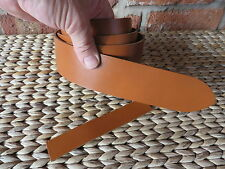 TAN COW HIDE  LEATHER BELT BLANK/STRAP 2.8.mm  - CHOOSE YOUR WIDTH FROM £3.00
